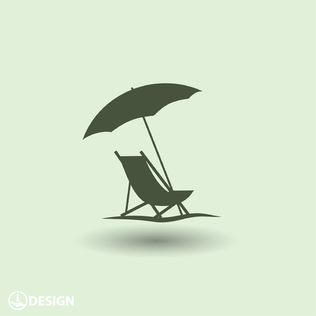 outdoor chair: Pictograph of summer vacation