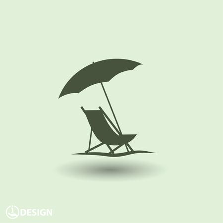 Piktogramm der Sommerferien Standard-Bild - 48781548