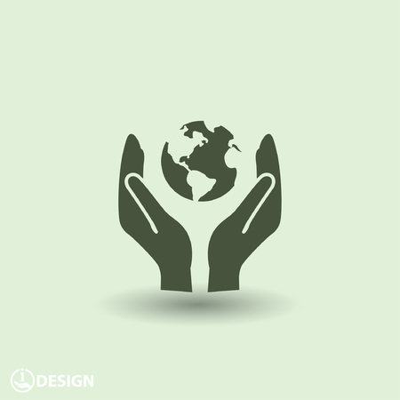 world globe: Pictograph of globe Illustration