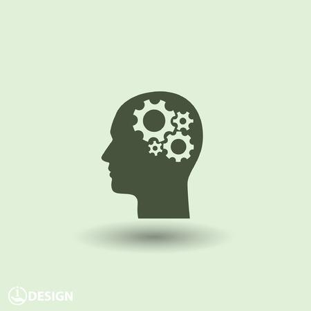 mente humana: Pictograma de artes en la cabeza