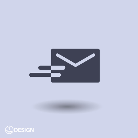 web mail: Pictograph of mail Illustration