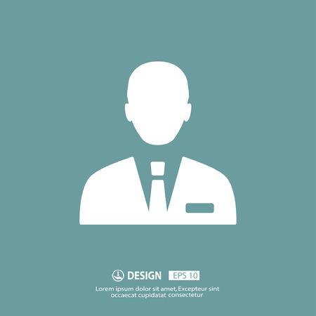 pictograph: Pictograph of businessman