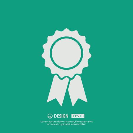 ganador: Pictograma de la adjudicación Vectores