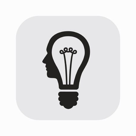 pictograph: Pictograph of bulb concept
