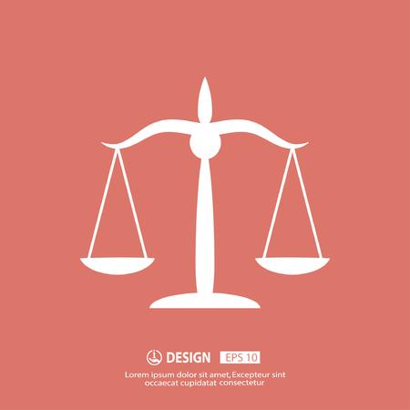 balanza de la justicia: Pictograma de las escalas de la justicia