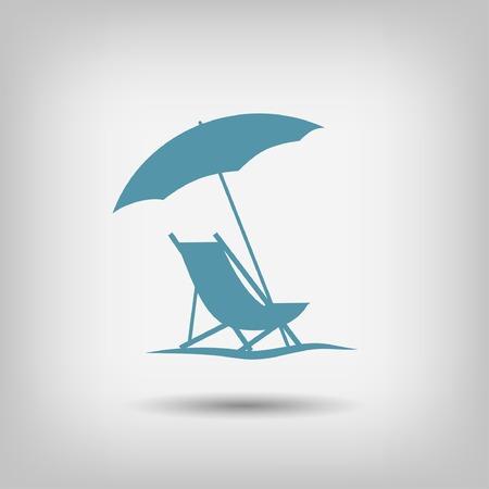 silla: Pictograma de las vacaciones de verano Vectores