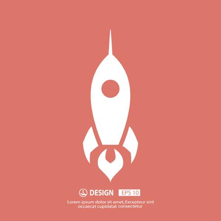 Rocket-Ikone Standard-Bild - 49218713