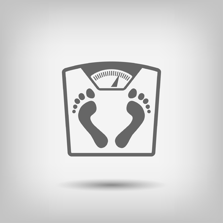 bathroom weight scale: Pictograph of bathroom scale with footprints