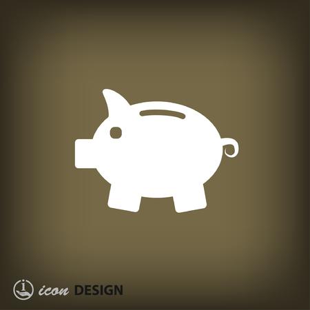 moneybox: Pictograph of moneybox