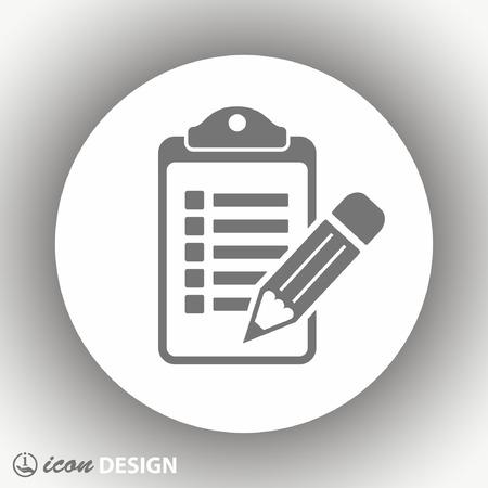 Pictograph of checklist 矢量图像