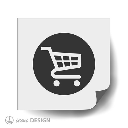 retailers: Pictograph of shopping cart Illustration