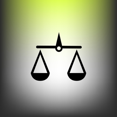 justice scales: Pictograph of justice scales