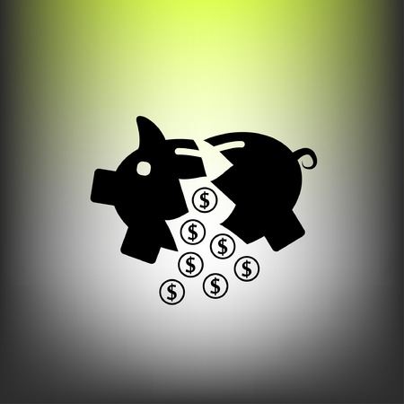 put: Pictograph of moneybox