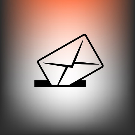 mail: Pictograph of mail Illustration