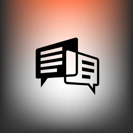 communicate  isolated: Pictograph of message or chat
