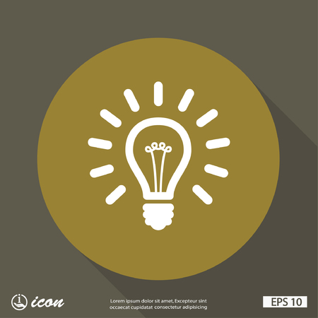 electric bulb: Pictograph of light bulb