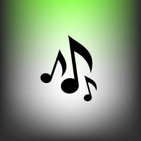 pictograph: Pictograph of music note Illustration
