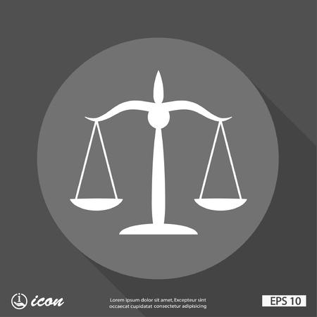 Pictogramme des échelles de justice