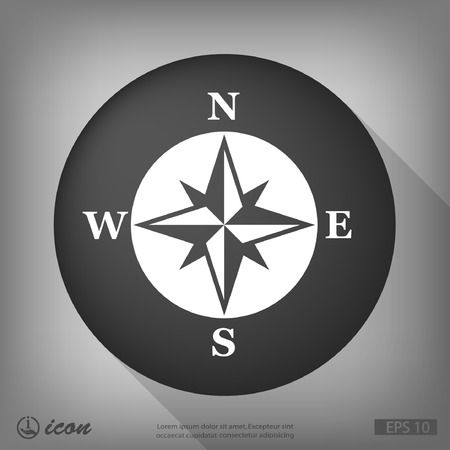 compass: Pictograph of compass