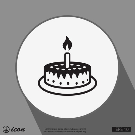 happy birthday party: Pictograph of cake Illustration