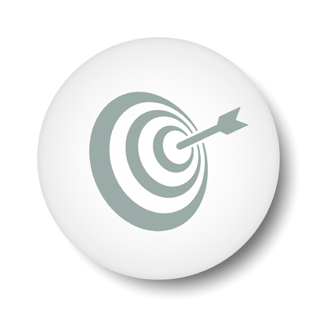 shooting at goal: Pictograph of target Illustration