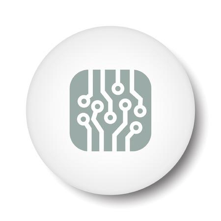 circuitboard: Pictograph of circuit board