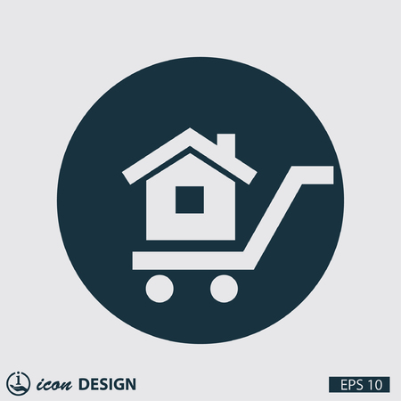pictograph: Pictograph of home Illustration