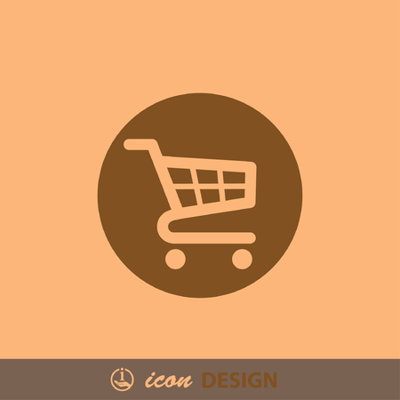 e retailers: Pictograph of shopping cart Illustration