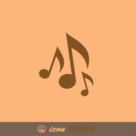 music: Pictograph of music note Illustration