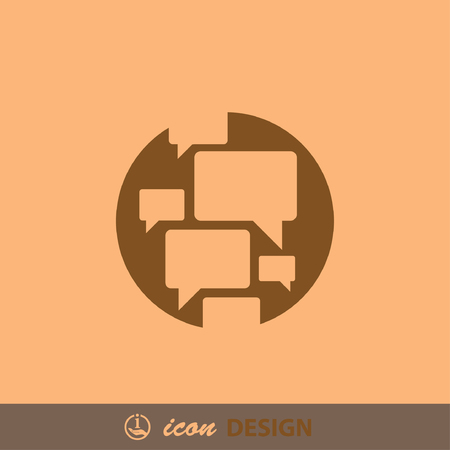 communicate  isolated: Pictograph of chat