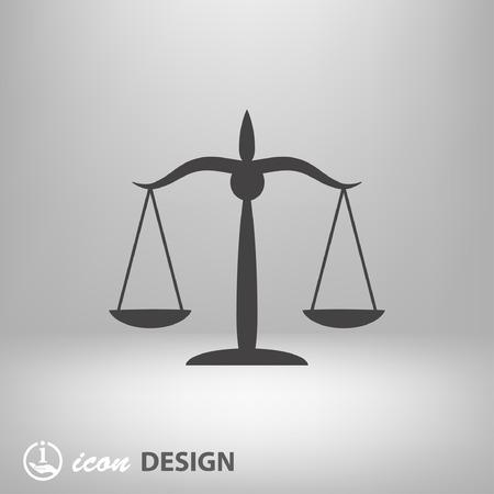Pictograph of justice scales Vektorové ilustrace