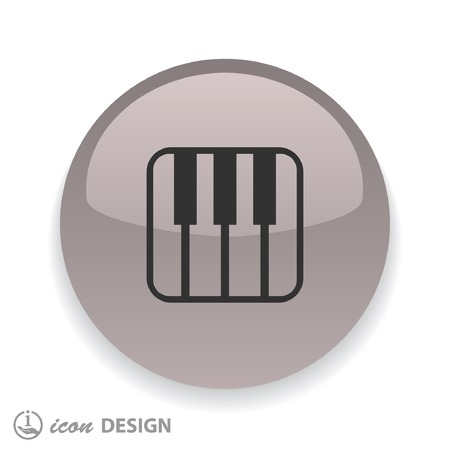 music: Pictograph of music keyboard Illustration