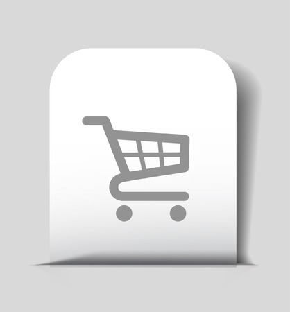 buy sell: Pictograph of shopping cart Illustration