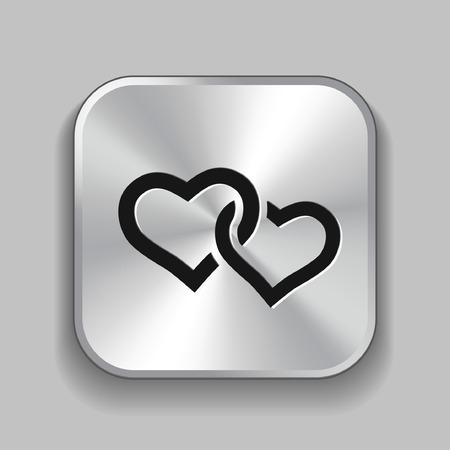 two hearts: Pictograph of two hearts