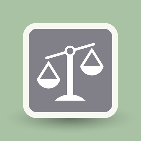 litigation: Pictograph of justice scales