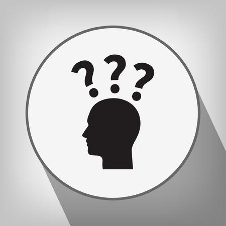 signo de interrogacion: Pictograma del signo de interrogación y el hombre