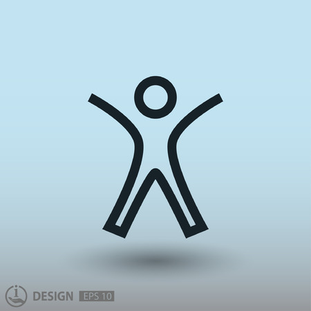 success concept: Pictograph of success people. Vector concept illustration for design.  Illustration