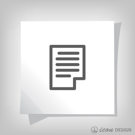 docs: Pictograph of page. Vector concept illustration for design. Eps 10 Illustration