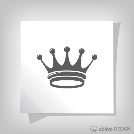 aristocracy: Pictograph of crown. Vector concept illustration for design. Eps 10 Illustration