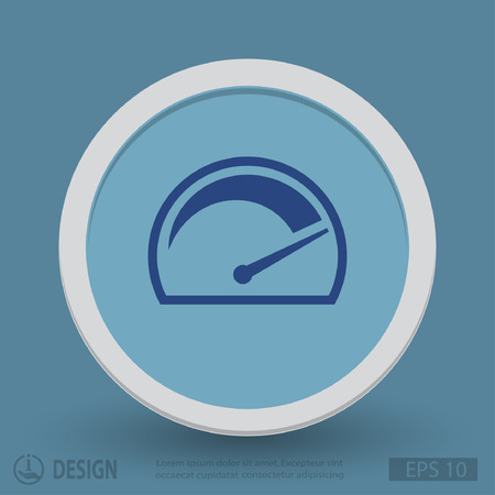kilometer: Pictograph of speedometer. Vector concept illustration for design. Eps 10