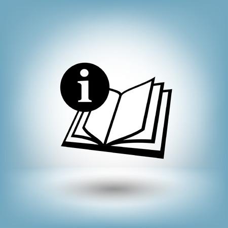 Pictograph du livre. Vector illustration concept pour la conception. Eps 10 Illustration