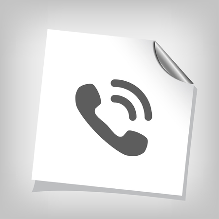buttons web: Pictograph of phone