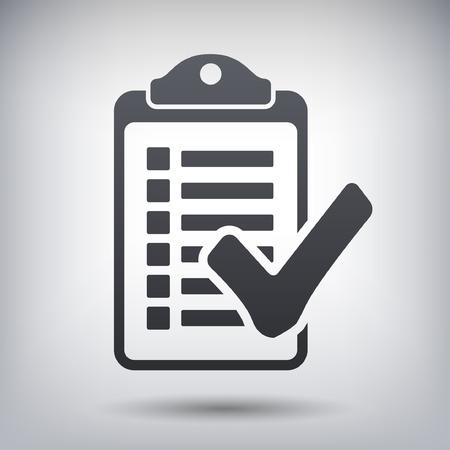 checklist: Pictograph of checklist Illustration