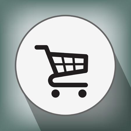 e market: Pictograph of shopping cart Illustration