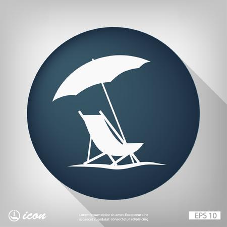 strandstoel: Beeldschriftteken van de zomervakantie