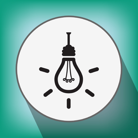 light bulb low: Pictograph of light bulb