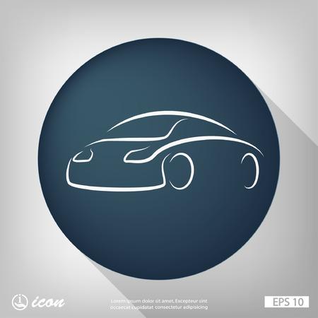 car: Pictograph of car