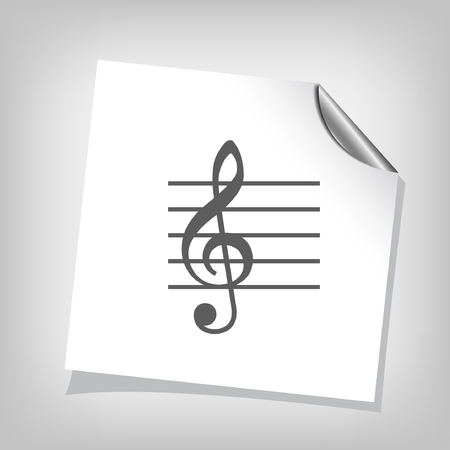 music: Pictograph of music key
