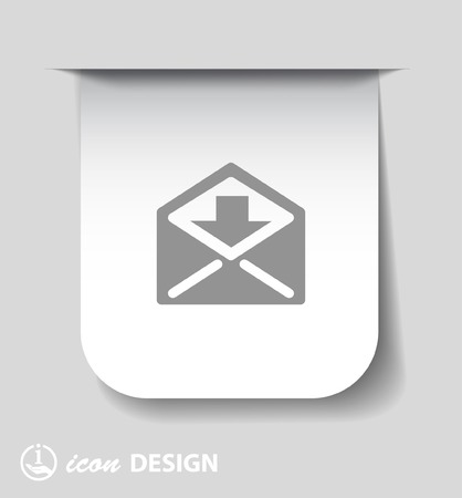 by mail: Pictograph of mail Illustration