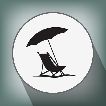beach umbrella: Pictograph of summer vacation
